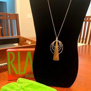 RLM Studio  Necklace 18in Pendant Silver/Brass